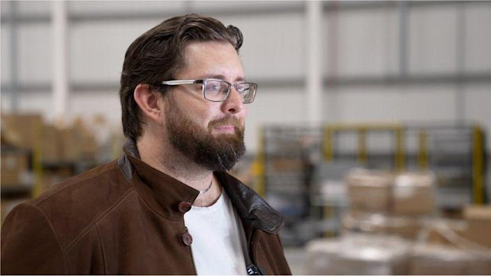 Luke Meredith, director of Amazon's Covid-testing laboratory in Manchester