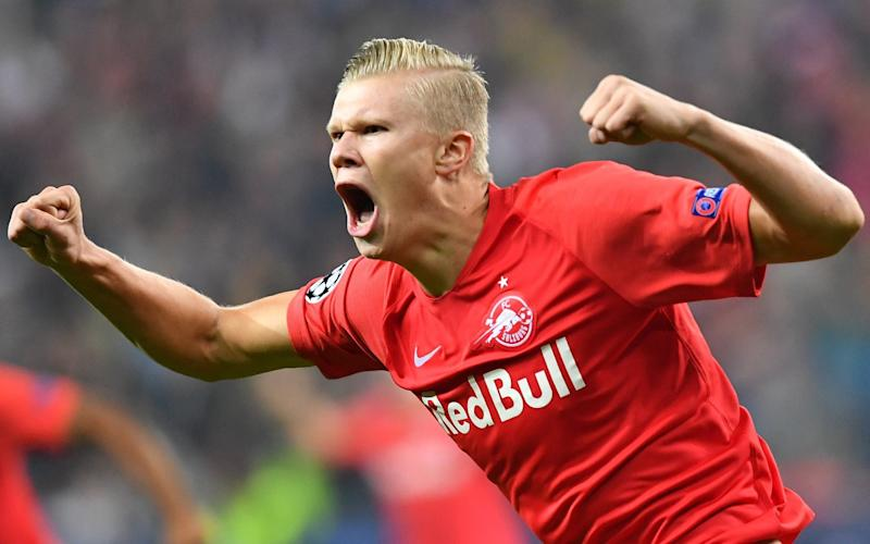 Erling Braut Haaland is the most sought-after teenage striker in Europe - AFP