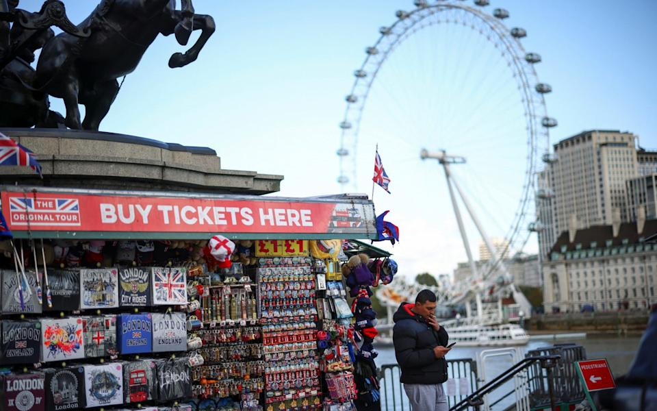 Tourist spending in central London is set to fall by £10.9 billion this year due to the pandemic - REUTERS/Henry Nicholls
