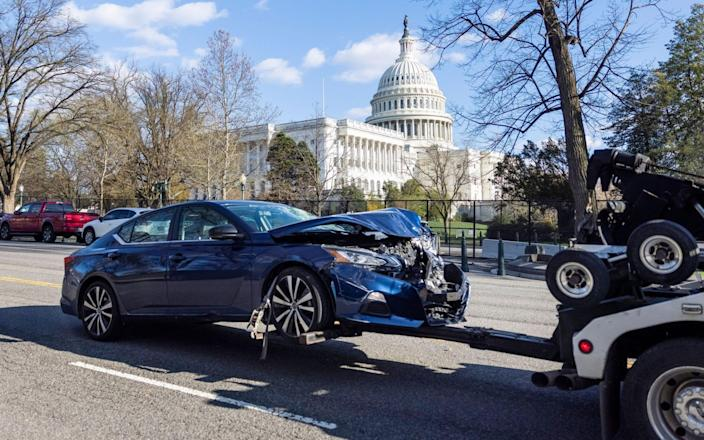 Cars allegedly driven by the green were towed from the scene-EPA