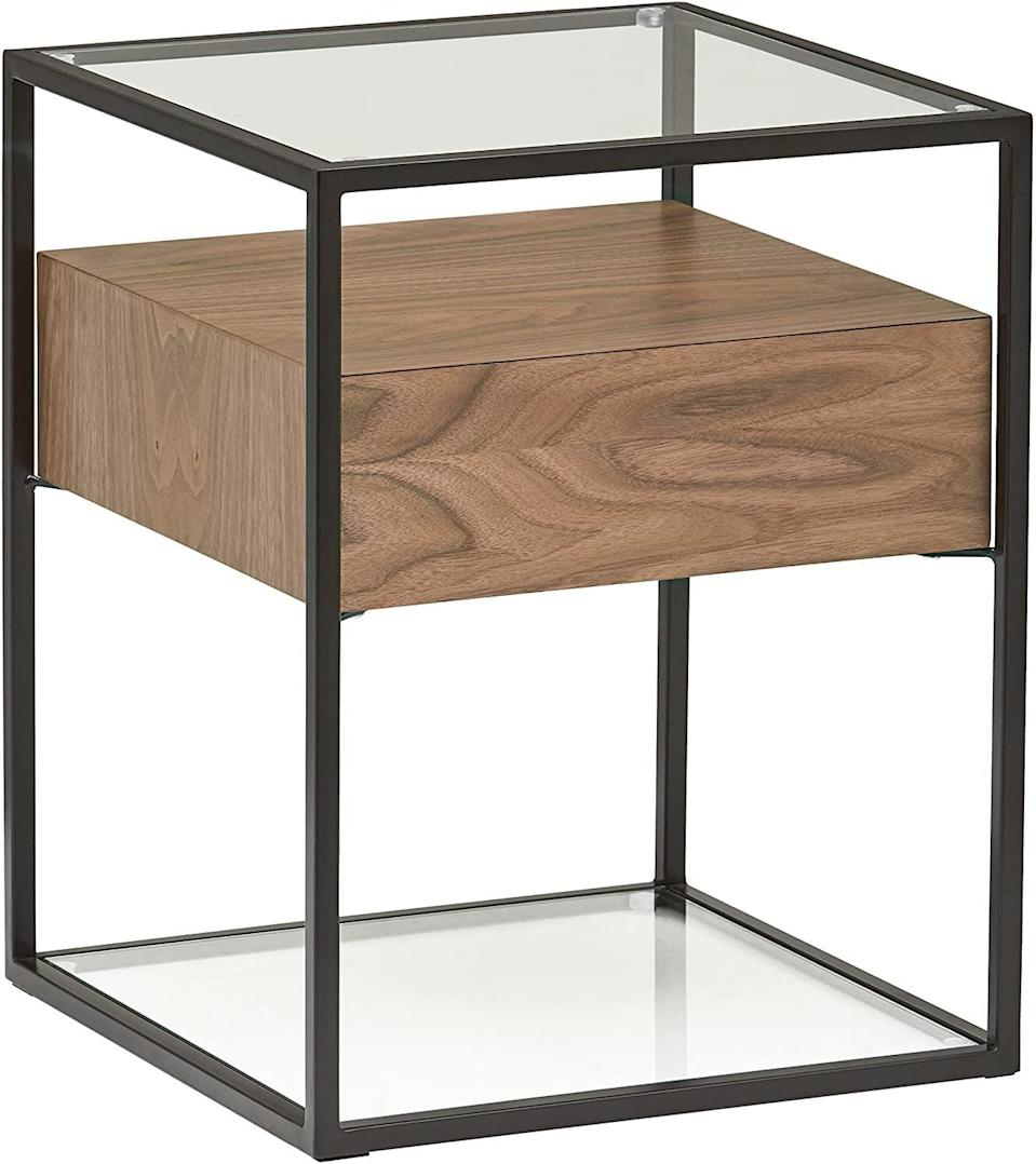 <p>We love that this <span>Rivet King Street Industrial Floating Side Table Night Stand</span> ($185) has a secret drawer.</p>