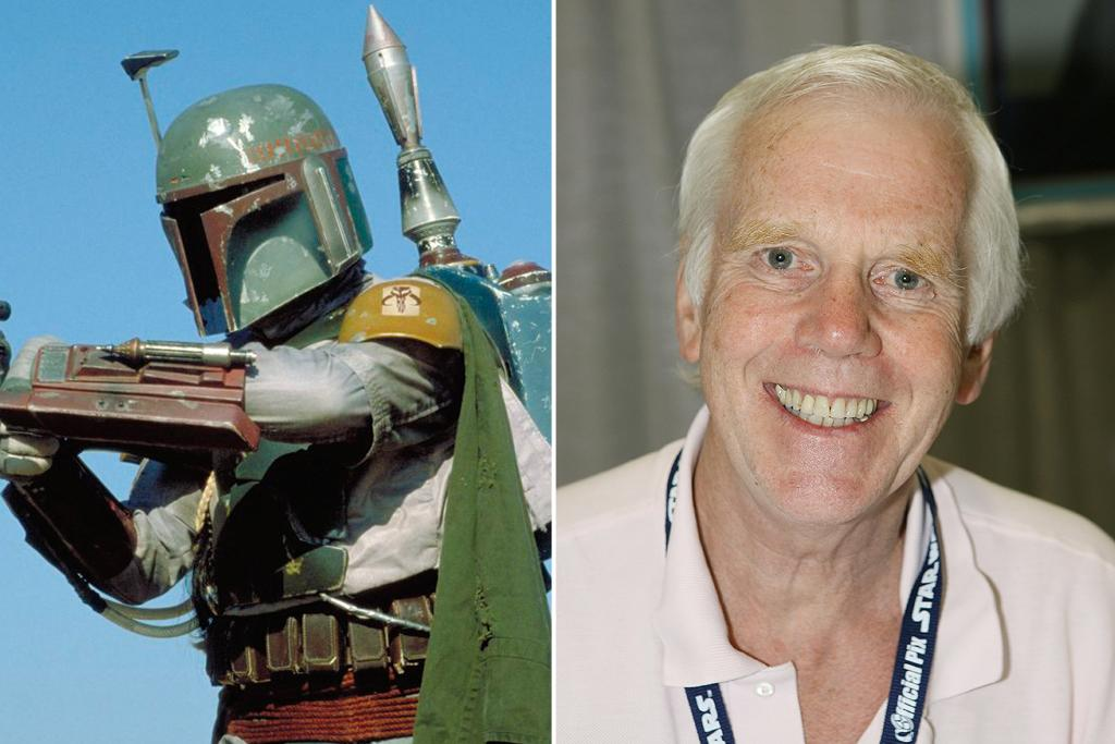 """Jeremy Bulloch – Boba Fett<br><br>Before becoming an intergalactic bounty hunter, Bulloch was a household name in the U.K., where he acted frequently on stage and television and in some popular films, including the James Bond movie """"The Spy Who Loved Me"""" (1977). Boba Fett's suit was actually constructed before Bulloch was cast, as Lucas already knew he was going to use the character, who originally appeared in a cartoon during """"The Star Wars Holiday Special"""" (1978). Bulloch got the job in part because the suit fit perfectly. Even though Boba Fett was sucked into the Sarlacc Pit and killed off in """"Return of the Jedi,"""" Bulloch still managed to appear in """"Revenge of the Sith"""" (2005) in a small role as Captain Colton."""