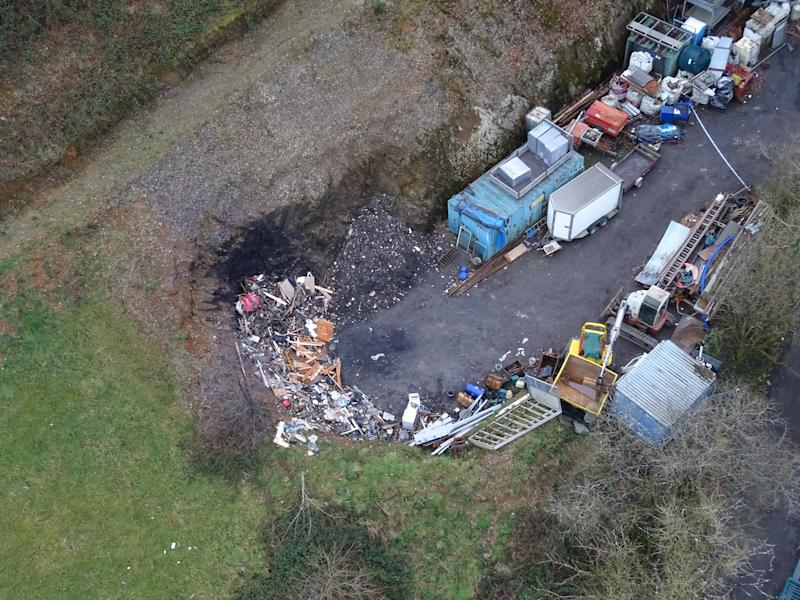 The quarry area. (PA/Dyfed Powys Police)