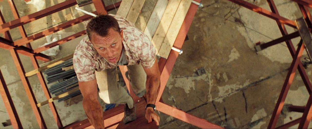 <p>The opening of <em>Casino Royale</em> is considered by many Bond fans to be the greatest stunt in the franchise's long history.<br />That's partly because Craig did it for real – yes, even that fight scene on top of a crane 200ft in the air.<br />Craig's continued to do his own 007 stunts, even injuring his knee during <em>Spectre</em>'s fight scene with Dave Bautista. </p>