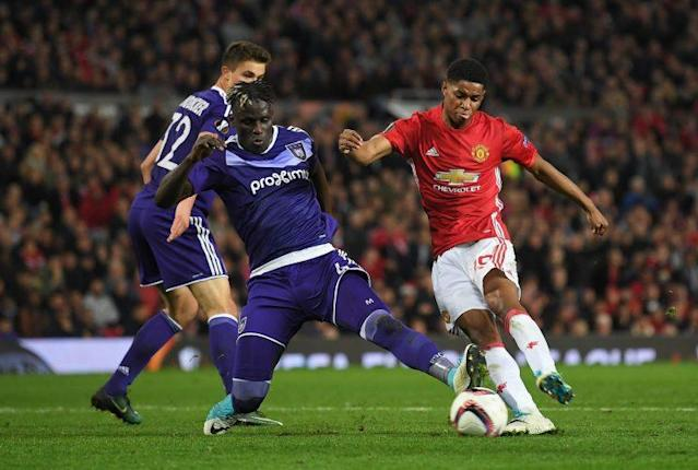 Rashord's goal sends United to the Europa League semifinals. (Getty)