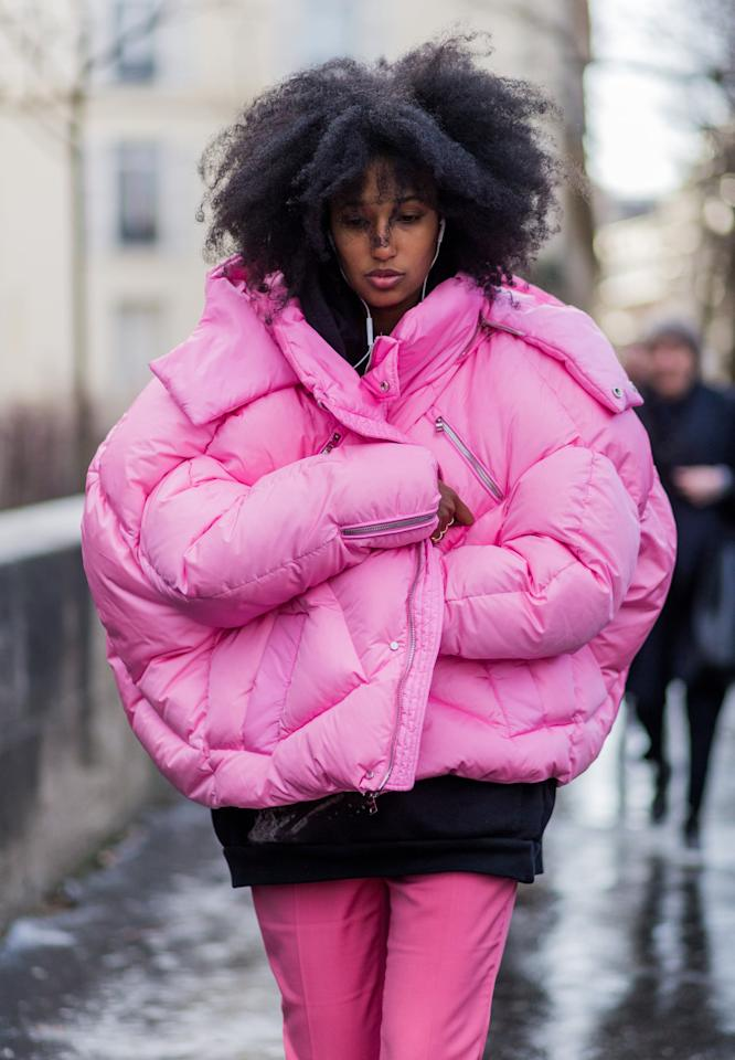 <p>Not just a trend, but a winter essential, the puffer's earned its place in our closet this season with bright colors and bolder shapes that add just the right amount of drama.	</p>