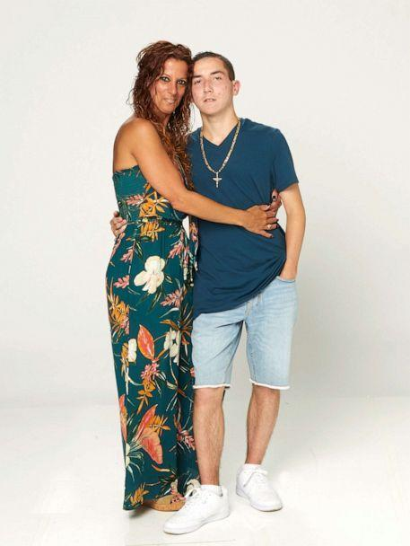 PHOTO: Joseph Reina pictured with his mother Lisa Reina in 2021. (ABC)