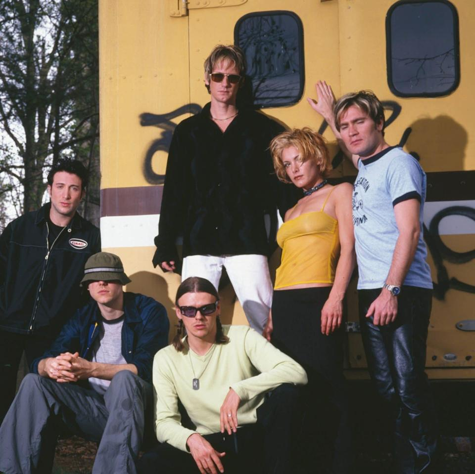 The touring line-up of the New Radicals in 1999 - Mick Hutson/Redferns