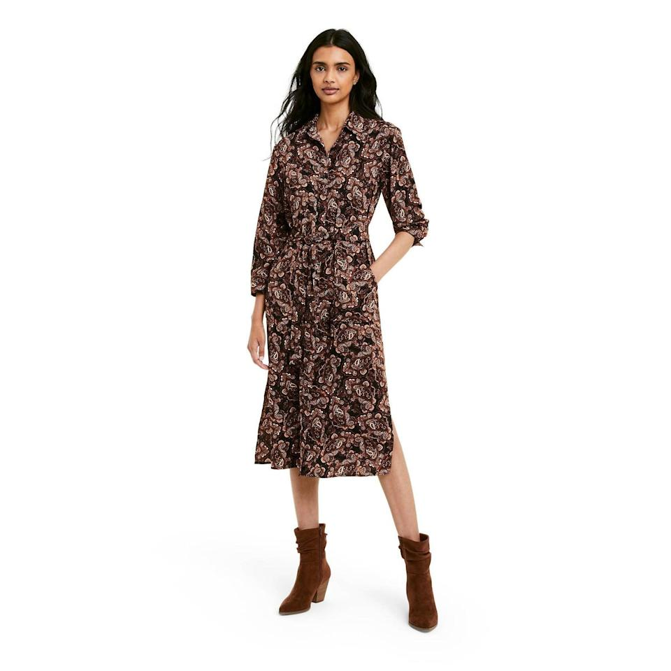 <p>If you're looking for a versatile dress you can wear every day, get the <span>Nili Lotan x Target Paisley Print Long Sleeve Belted Shirtdress</span> ($55). The waist tie will flatter your figure.</p>