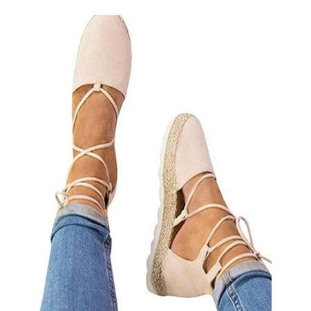 "<p>Pair these <a href=""https://www.popsugar.com/buy/%20Flat%20Wedge%20Espadrilles-469297?p_name=%20Flat%20Wedge%20Espadrilles&retailer=walmart.com&price=18&evar1=fab%3Aus&evar9=46390837&evar98=https%3A%2F%2Fwww.popsugar.com%2Ffashion%2Fphoto-gallery%2F46390837%2Fimage%2F46391256%2FFlat-Wedge-Espadrilles&list1=shopping%2Cshoes%2Cflats%2Cwalmart%2Caffordable%20shopping&prop13=api&pdata=1"" rel=""nofollow"" data-shoppable-link=""1"" target=""_blank"" class=""ga-track"" data-ga-category=""Related"" data-ga-label=""https://www.walmart.com/ip/Women-s-Ladies-Flat-Wedge-Espadrille-Lace-Tie-up-Sandals-Platform-Summer-Shoes/435748438"" data-ga-action=""In-Line Links""> Flat Wedge Espadrilles</a> ($18) with denim.</p>"