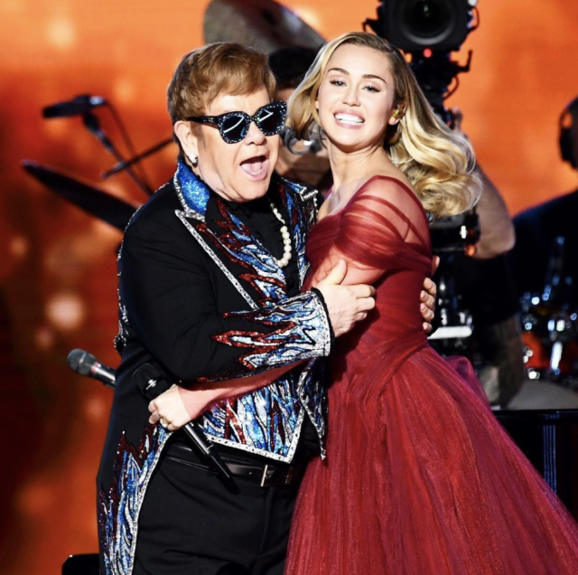 "<p>""Sir Elton John, I can't thank you enough for giving me the honor of performing with you tonight at the Grammys!"" the <em>Voice</em> judge captioned this pic of <a href=""https://www.yahoo.com/entertainment/unlikely-friends-miley-cyrus-elton-john-gush-grammys-performance-211508363.html"" data-ylk=""slk:her duet with John"" class=""link rapid-noclick-resp"">her duet with John</a> at the Grammys. ""I've loved every moment I've spent with you over the years & will cherish each second of your kindness …. let's kick ass and keep fighting for an end to the AIDS epidemic! Everything you do inspires me to keep workin hard and never giving up on all my dreams! Love you dearly!"" (Photo: <a href=""https://www.instagram.com/p/BehLmpbhnmH/?taken-by=mileycyrus"" rel=""nofollow noopener"" target=""_blank"" data-ylk=""slk:Miley Cyrus via Instagram"" class=""link rapid-noclick-resp"">Miley Cyrus via Instagram</a>) </p>"