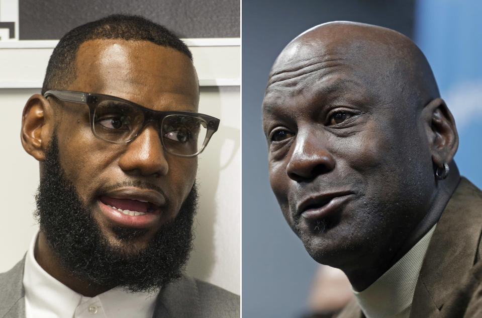 LeBron James now has more career points, rebounds and assists than Michael Jordan. (AP)