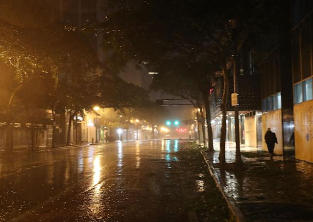 <p><strong>Miami</strong><br>Wind and rain from Hurricane Irma blows through the streets on Sept. 10, 2017 in Miami, Florida. Hurricane Irma made landfall in the Florida Keys as a Category 4 storm on Sunday, lashing the state with 130 mph winds. (Photo: Joe Raedle/Getty Images) </p>
