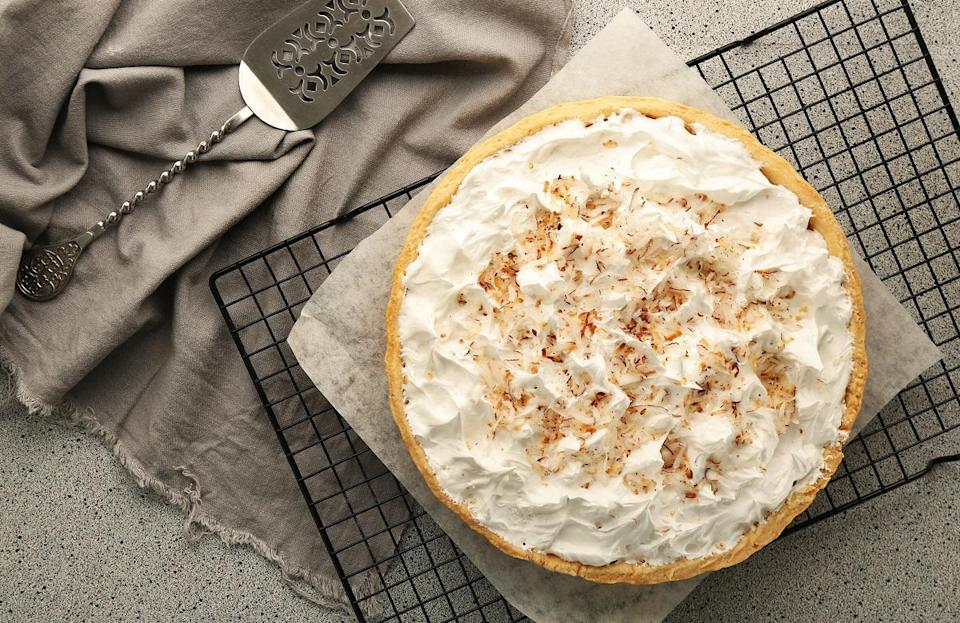 "<p>Variations of coconut pie are available across all of South Carolina, and no adaptation of the dessert is more Southern than coconut cream pie. The treat is made with a graham cracker base and a shredded coconut filling and is topped with whipped cream. In between making your own version of the dessert, brush up on more <a href=""https://www.thedailymeal.com/eat/weird-food-facts?referrer=yahoo&category=beauty_food&include_utm=1&utm_medium=referral&utm_source=yahoo&utm_campaign=feed"" rel=""nofollow noopener"" target=""_blank"" data-ylk=""slk:state food fun facts"" class=""link rapid-noclick-resp"">state food fun facts</a>.</p>"