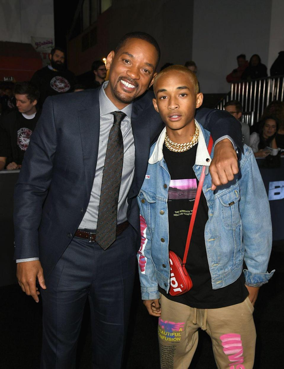 <p>Though Jaden Smith may be named in honor of his mom, Jada Pinkett Smith, the 21-year-old looks just like his dad. </p>