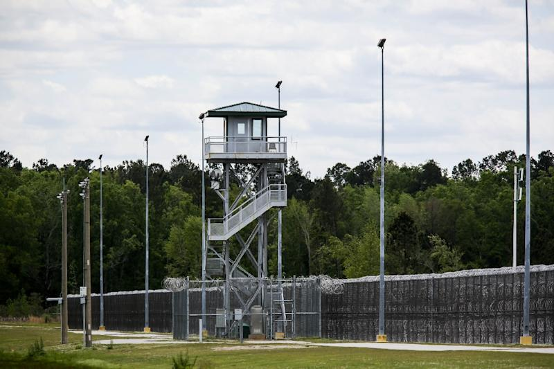 A guard tower at the Lee Correctional Institution in Bishopville, South Carolina (AFP Photo/Logan Cyrus)