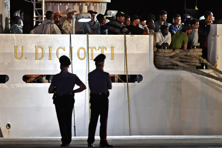 The migrants on the Diciotti coastguard ship had been stranded at a port in Sicily before Salvini finally allowed them to disembark on August 26