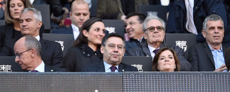 Bartomeu, en el palco. (Photo: JOSEP LAGO via Getty Images)