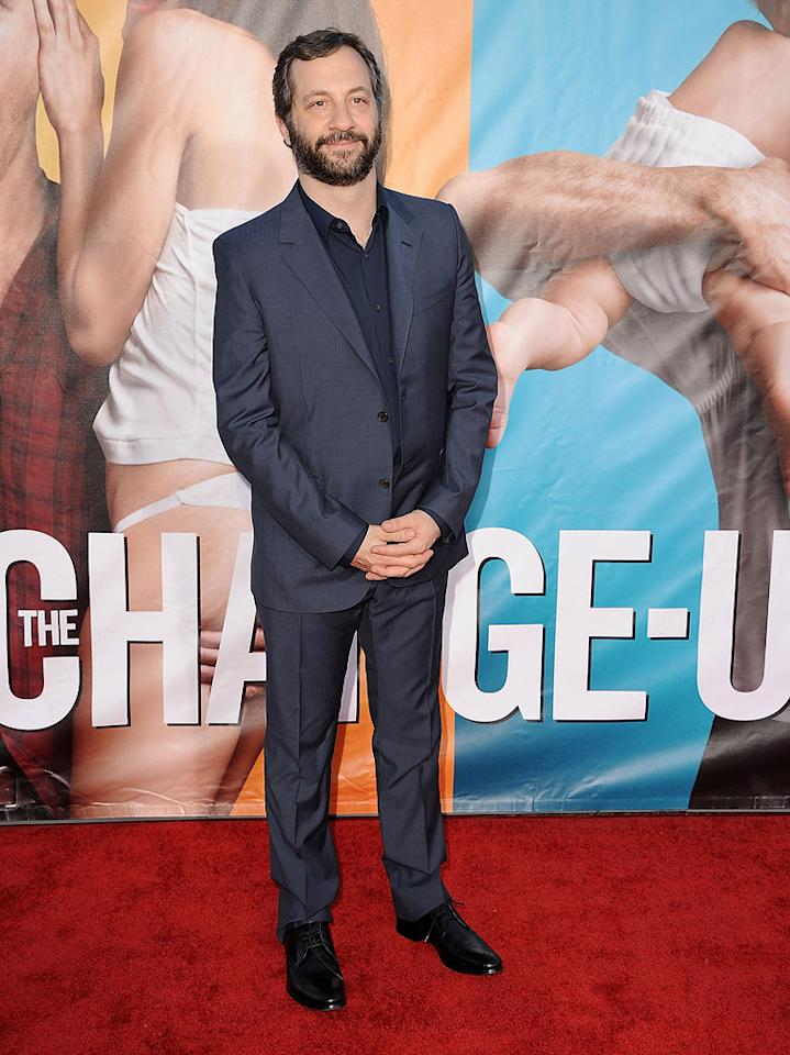 "<a href=""http://movies.yahoo.com/movie/contributor/1804503686"">Judd Apatow</a> at the Los Angeles premiere of <a href=""http://movies.yahoo.com/movie/1810155680/info"">The Change-Up</a> on August 1, 2011."