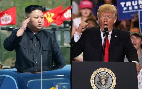 """Donald Trump could next month be standing just metres from Kim Jong-un's gun-toting soldiers during a possible visit to the heavily-fortified Demilitarized Zone between North and South Korea. Officials from Washington have reportedly visited the tense border area between the two countries – who remain technically at war – as they draw up detailed plans for the US president's upcoming visit to South Korea. Mr Trump is heading to the South as part of a tour of Asia when he is expected to deliver a strong message to Pyongyang over its build up of nuclear weapons. An anonymous South Korean defence official told Yonhap news agency that an advance team of US officials """"looked around Panmunjom and Observation Post Ouellette."""" Panmunjom is located in the 4-km (2.5 mile) wide buffer zone between the North and South, who never signed a peace treaty ending their 1950-53 war, only an armistice. Kim Jong-un and Donald Trump have traded threats in recent months Inside the 'truce village' is a Joint Security Area (JSA) where North Korean troops carry pistols and take photographs and video of visitors. Last March, one North Korean solider was seen standing directly behind Rex Tillerson as he took a picture of theUS Secretary of State when he visited Panmunjom. Barack Obama visited Observation Post Ouellette in 2012, while two years later Hillary Clinton and Robert Gates – who were then senior officials in his administration - toured Panmunjom together. """"No US president can tolerate the threat of a nuclear-armed North Korea able to range the continental US""""@paulhaenlehttps://t.co/KPFjimiAZX— Neil Connor (@neilaconnor) March 18, 2017 However, a visit by Mr Trump to the DMZ would likely create a major security headache for South Korean authorities. Mr Trump has vowed to """"destroy"""" North Korea if it threatened the US, and also warned Mr Kim's regime that it would face """"fire and fury"""" as tensions over Pyongyang's military build-up have escalated in recent months. Visitors who join a tour"""