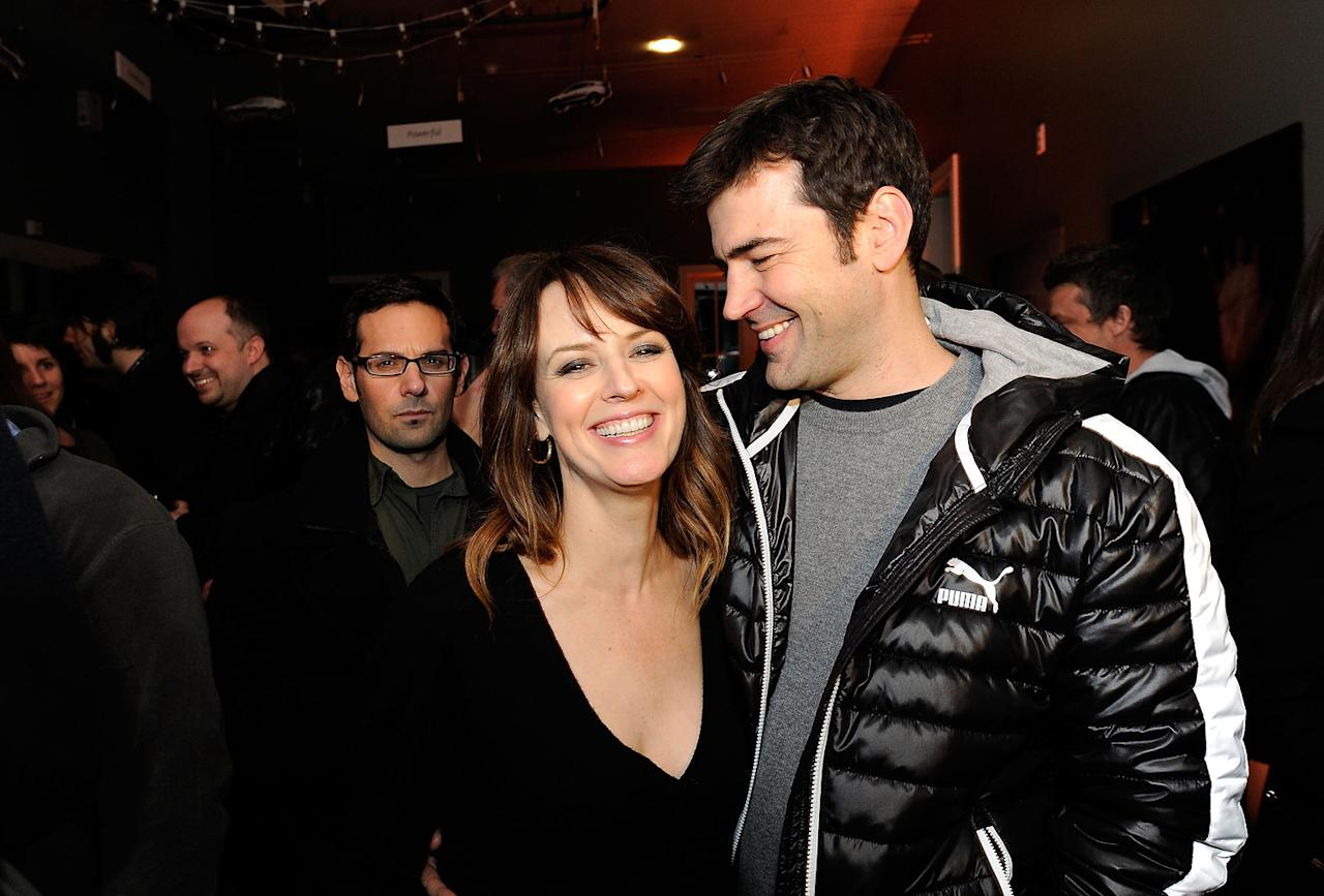 Rosemarie DeWitt and Ron Livingston are seen out and about during the 2012 Sundance Film Festival in Park City, Utah on January 20, 2012.