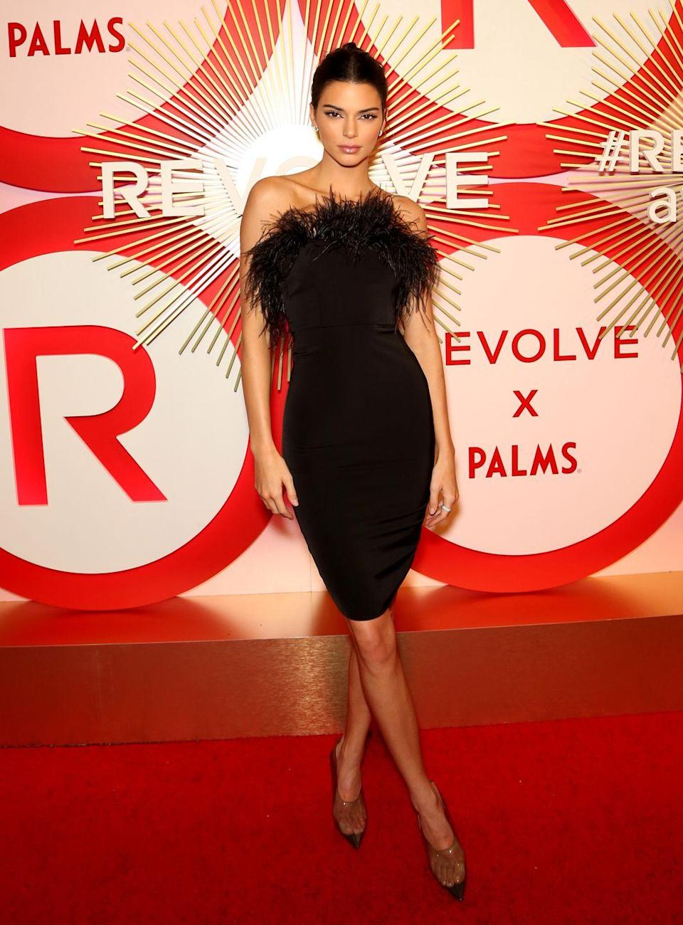 <p>This was the year of see-through footwear, as seen here on Kendall Jenner at the Revolve awards in Las Vegas. </p>