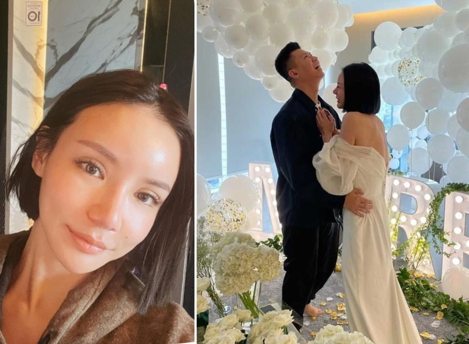 Singaporean socialite Kim Lim revealed on Instagram on 30 September 2021 that she is engaged, although her fiancé's identity was unclear. (Photos: Kim Lim/Instagram)