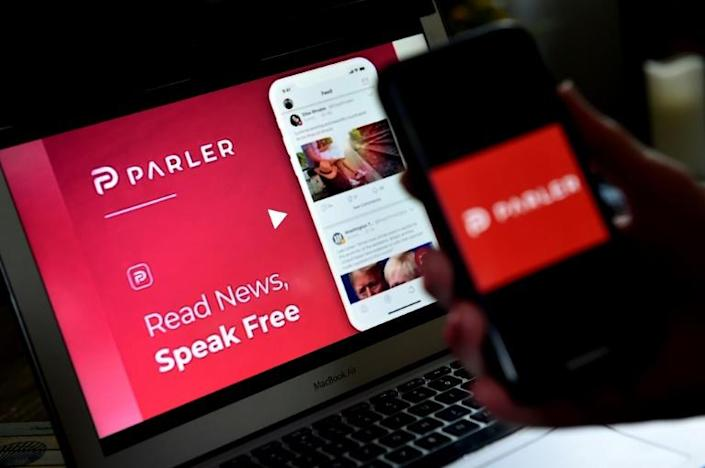 Parler, which launched in 2018 and operates much like Twitter, has delcared freedom of expression as its raison d'etre