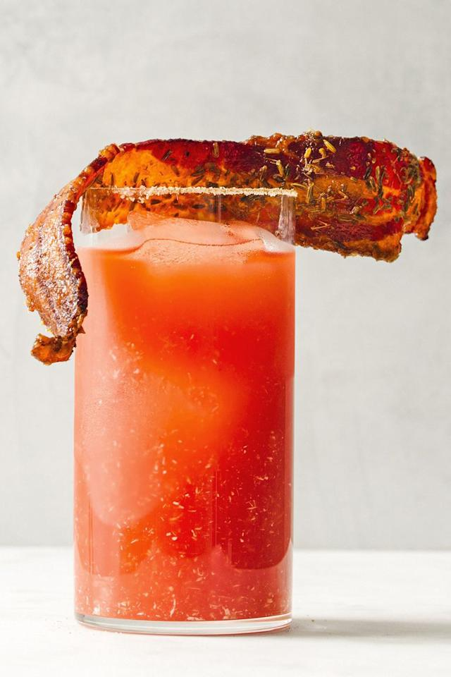 """<p>Not craving beer first thing in the morning? Try this tangy take on a Bloody Mary for those early tailgates when your breakfast doesn't go with brews.</p><p><em><a href=""""https://www.goodhousekeeping.com/food-recipes/a23602938/bloody-caesar-with-maple-fennel-bacon-recipe/"""" target=""""_blank"""">Get the recipe for Bloody Caesar with Maple-Fennel Bacon »</a></em></p>"""