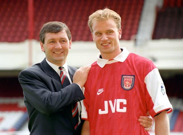 Bruce Rioch brought Dennis Bergkamp to Arsenal in 1995 (Tony Harris/PA)