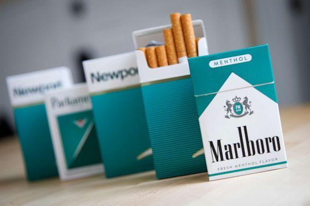 PHOTO: Packs of menthol cigarettes are displayed on a table in New York City, Nov. 15, 2018. (Drew Angerer/Getty Images, FILE)