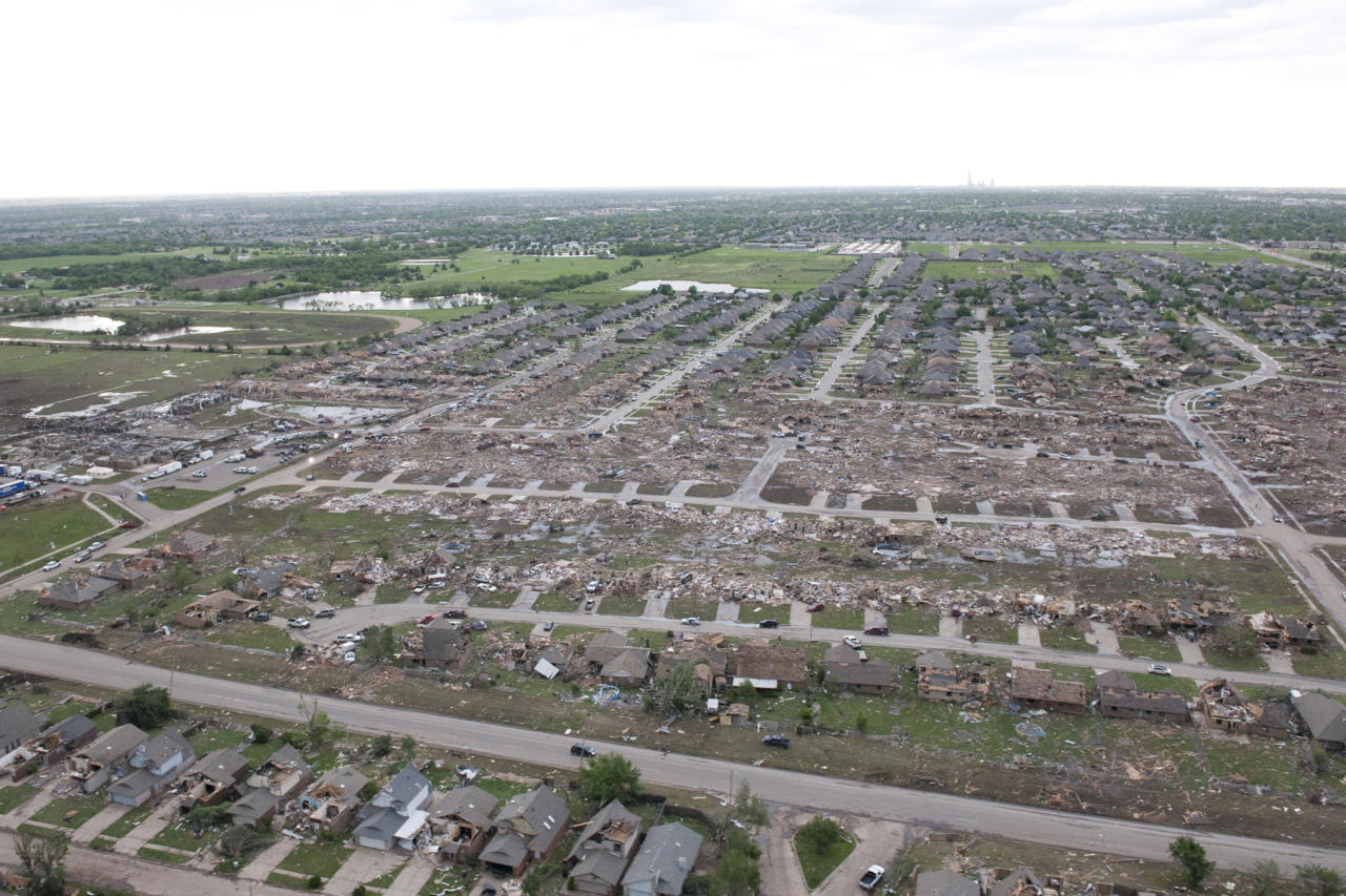 Flyover of tornado damage from the May 20 tornado in Moore, Okla. (Photo courtesy of Maj. Geoff Legler, Oklahoma National Guard Public Affairs)