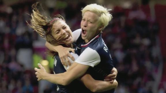Alex Morgan scored in extra time as the United States beat Canada 4-3 in a women's soccer semifinal at the London Olympics. The U.S. will face Japan in the gold medal game on Thursday. (Aug. 6)