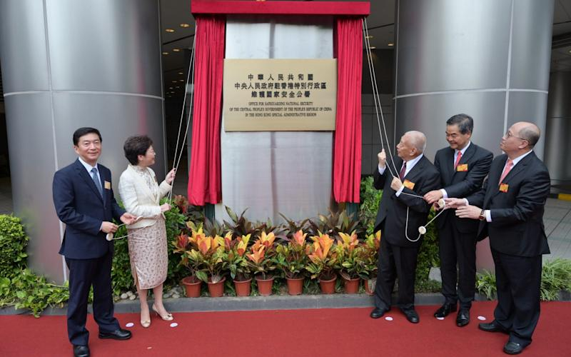 The inauguration of Office for Safeguarding National Security in Hong Kong - Shutterstock