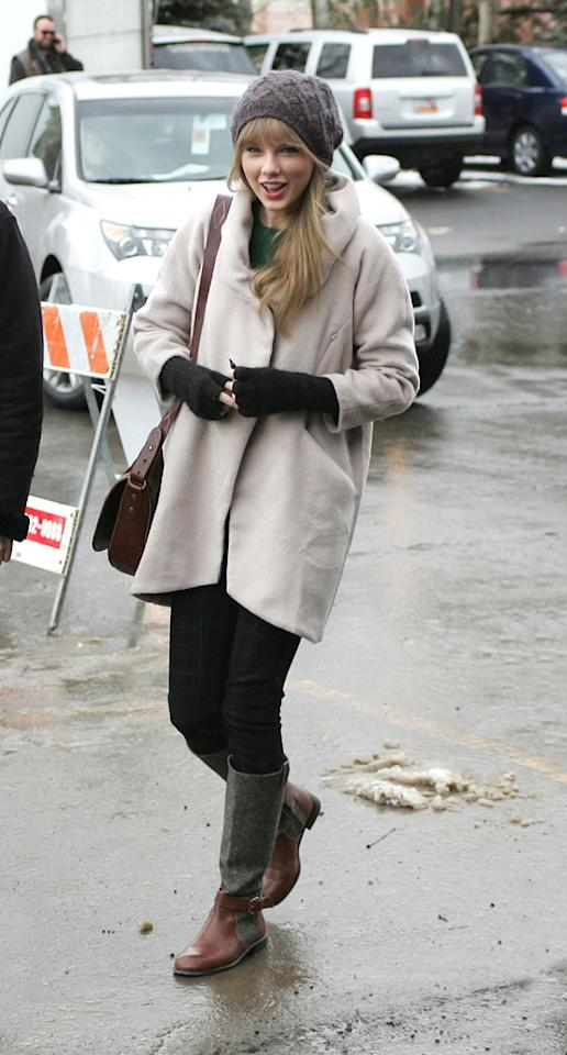 "Taylor Swift at arrivals for ""Ethel"" premiere at the 2012 Sundance Film Festival on January 20, 2012."