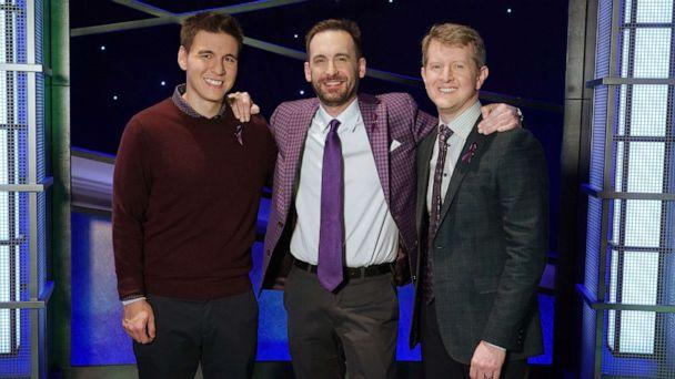 PHOTO: 'JEOPARDY! The Greatest of All Time' contestants, from left, James Holzhauer, Brad Rutter and Ken Jennings. (Eric Mccandless/ABC)