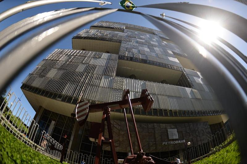 The headquarters of the Brazilian state oil giant Petrobras in Rio de Janeiro on May 12, 2014 (AFP Photo/Vanderlei Almeida)