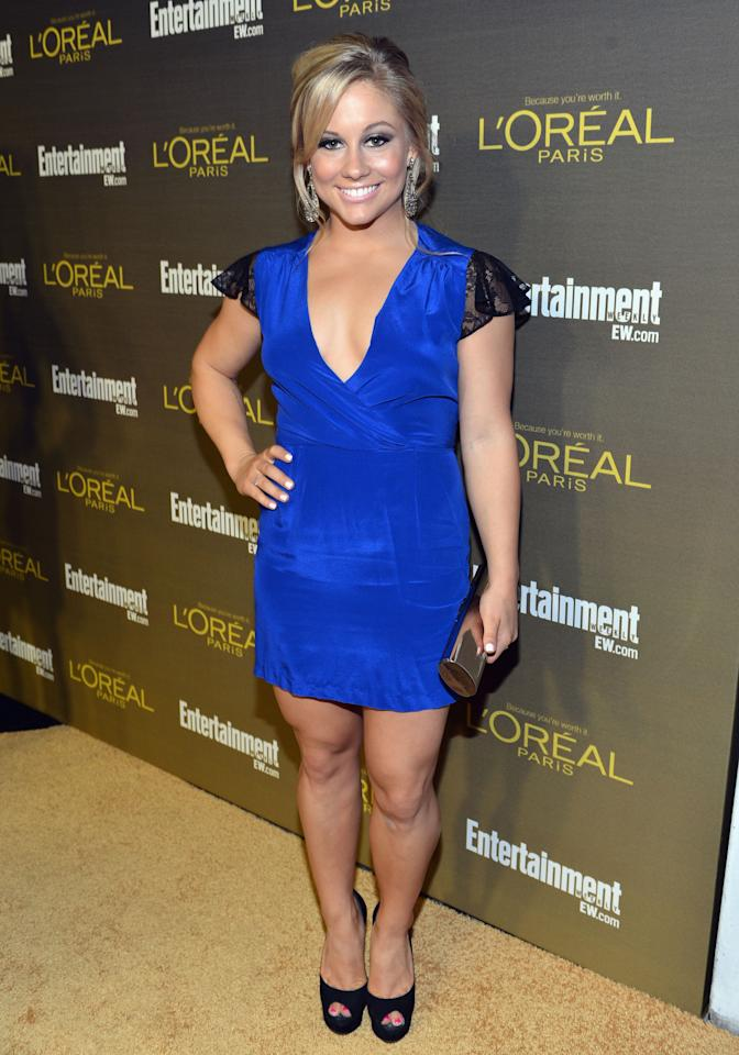 WEST HOLLYWOOD, CA - SEPTEMBER 21:  Former Olympian Shawn Johnson attends The 2012 Entertainment Weekly Pre-Emmy Party Presented By L'Oreal Paris at Fig & Olive Melrose Place on September 21, 2012 in West Hollywood, California.  (Photo by Alberto E. Rodriguez/Getty Images for Entertainment Weekly)