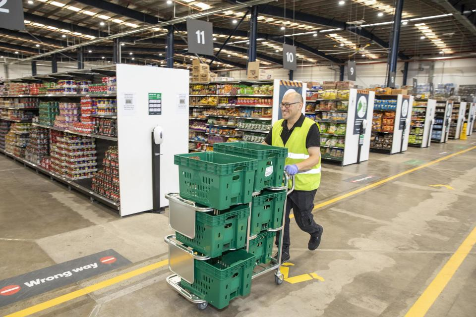 Woolworths new online Customer Fulfilment Centre in Lidcombe (NSW) to better serve the fast growing demand for home delivery in western Sydney. 7th December 2020.