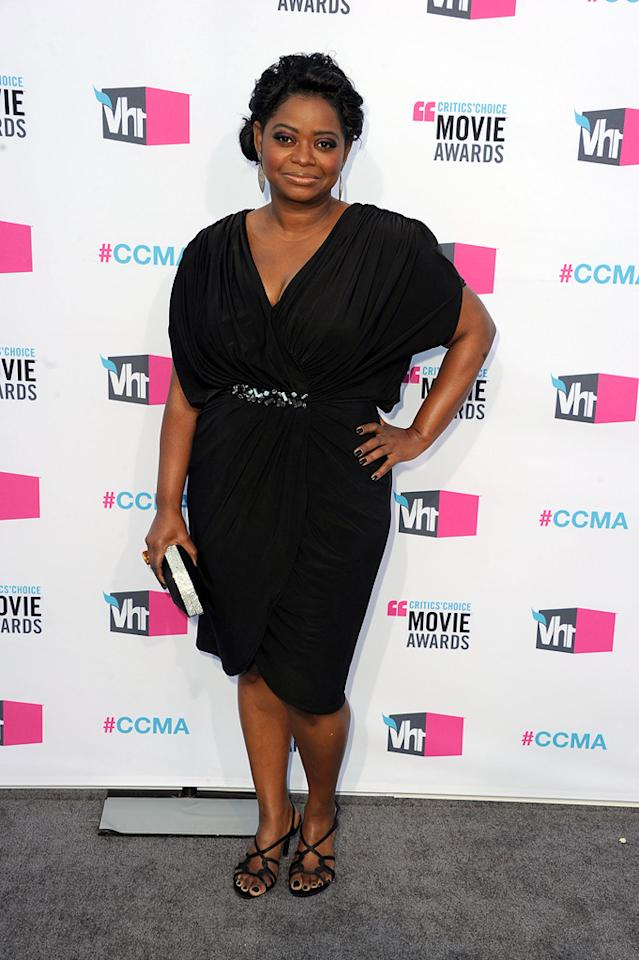 "<a href=""http://movies.yahoo.com/movie/contributor/1800343317"">Octavia Spencer</a> at the 17th Annual Critics' Choice Awards in Hollywood on January 12, 2012."