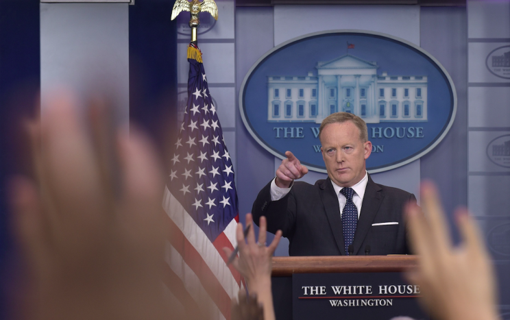 Mr Spicer has had a frosty relationship with journalists (Picture; Rex)