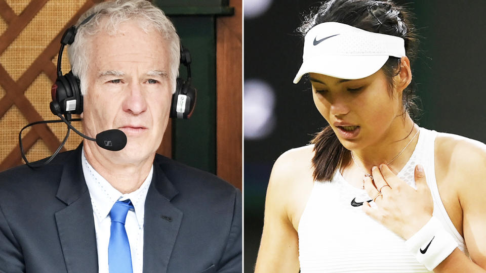 John McEnroe, pictured here in commentary at Wimbledon.