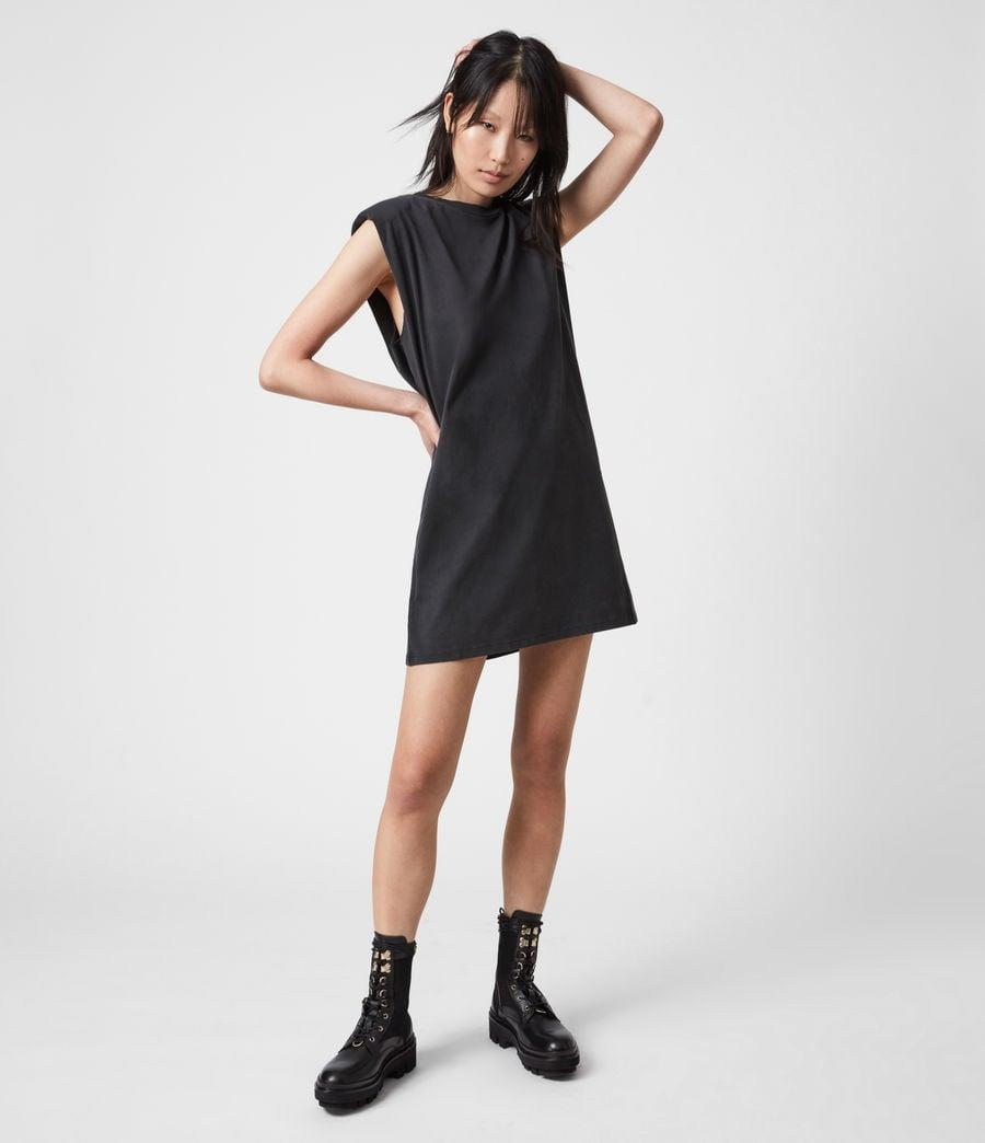 <p>This <span>ALLSAINTS Coni Organic Cotton Tank Dress</span> ($115) is a casual cool option, and we love the dramatic shoulder pads.</p>
