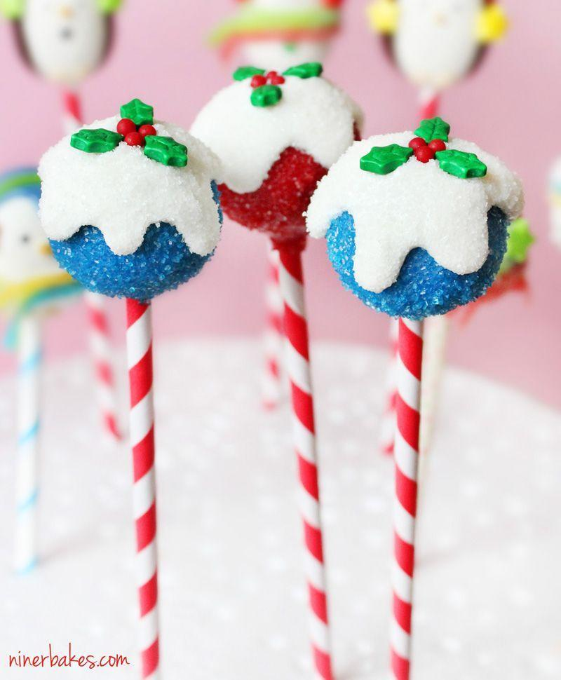 """<p>Guests will love these cake pops that look like they were dusted in snow.</p><p><strong>Get the recipe at <a href=""""http://www.ninerbakes.com/2012/12/11/christmas-cake-pops-tutorial-how-to-make-holly-leaf-berries-cake-pops/"""" rel=""""nofollow noopener"""" target=""""_blank"""" data-ylk=""""slk:Niner Bakes"""" class=""""link rapid-noclick-resp"""">Niner Bakes</a>.</strong></p><p><strong><a class=""""link rapid-noclick-resp"""" href=""""https://www.amazon.com/Lollipop-sticks-100-count-inch/dp/B000W5CGR8?tag=syn-yahoo-20&ascsubtag=%5Bartid%7C10050.g.22841709%5Bsrc%7Cyahoo-us"""" rel=""""nofollow noopener"""" target=""""_blank"""" data-ylk=""""slk:SHOP LOLLIPOP STICKS"""">SHOP LOLLIPOP STICKS</a></strong></p>"""