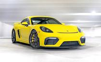 """<p>These days Porsche may be selling more crossovers than sports cars, but it keeps expanding its 718 lineup of mid-engine two-seaters. And each and every variation of both the <a href=""""https://www.caranddriver.com/porsche/718-cayman"""" rel=""""nofollow noopener"""" target=""""_blank"""" data-ylk=""""slk:Cayman"""" class=""""link rapid-noclick-resp"""">Cayman</a> coupe and <a href=""""https://www.caranddriver.com/porsche/718-boxster"""" rel=""""nofollow noopener"""" target=""""_blank"""" data-ylk=""""slk:Boxster"""" class=""""link rapid-noclick-resp"""">Boxster </a>convertible come with a stick. In fact, the manual is standard in all trim levels and with every powertrain, plus, the six-speed remains the only transmission offered in the hardcore Cayman GT4 and Boxster Spyder models.</p>"""