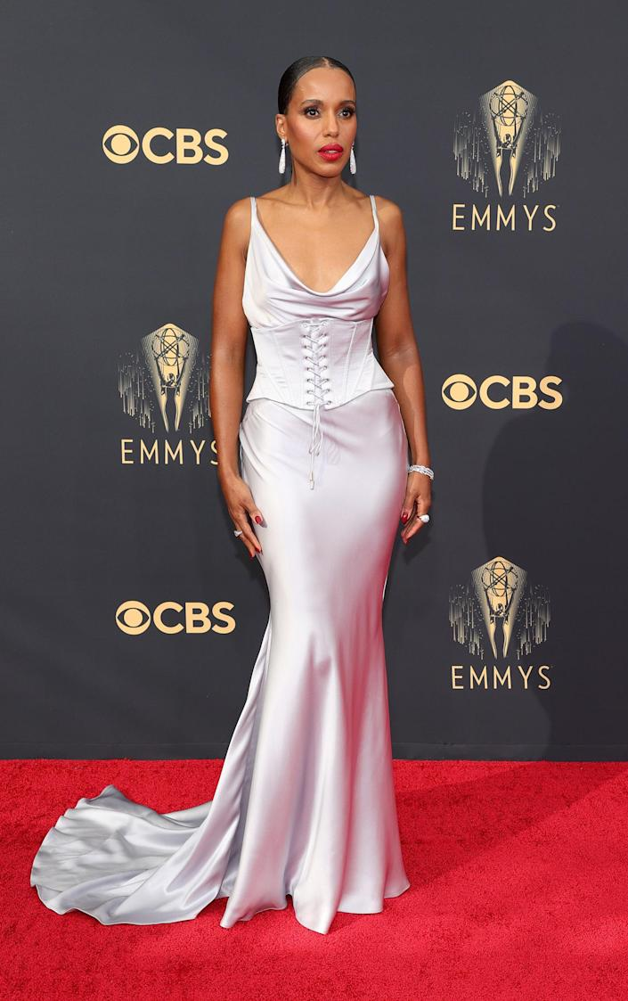 Kerry Washington Emmys red carpet 2021 (Rich Fury / Getty Images)