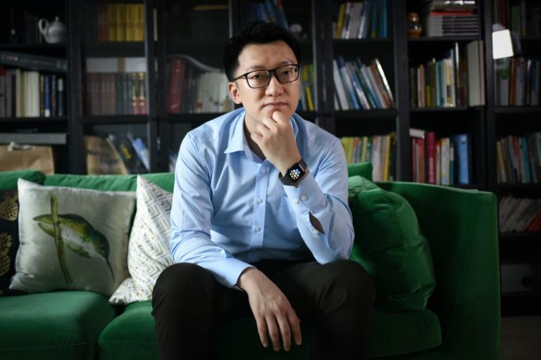 Gu Zhongyi, one of China's online question-and-answer mavens, at his home in Beijing