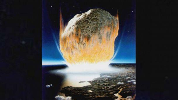 PHOTO: An artist's interpretation of the asteroid impact that wiped out all non-avian dinosaurs. (Don Davis/NASA)