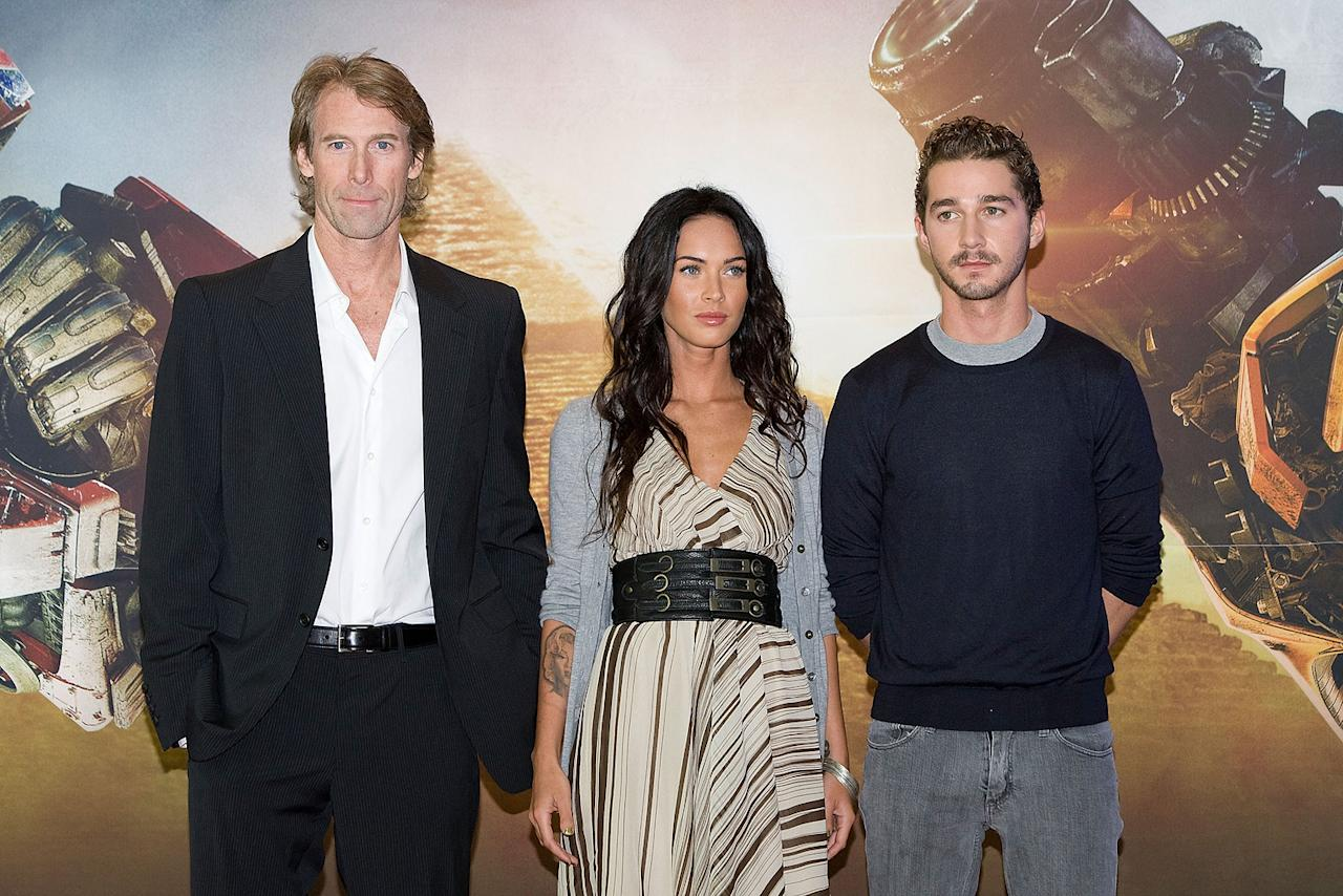 "<a href=""http://movies.yahoo.com/movie/contributor/1800020334"">Michael Bay</a>, <a href=""http://movies.yahoo.com/movie/contributor/1808488000"">Megan Fox</a> and <a href=""http://movies.yahoo.com/movie/contributor/1804503925"">Shia LaBeouf</a> at the Korean press conference for <a href=""http://movies.yahoo.com/movie/1809943432/info"">Transformers: Revenge of the Fallen</a> - 06/10/2009"