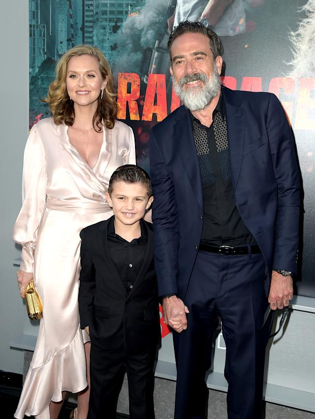The Morgans step out for the <em>Rampage</em> premiere. (Photo by Kevin Winter/Getty Images)